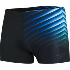 speedo Placement Aquashorts Men, black/light adriatic